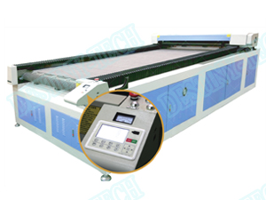 DT-1630 safa fabric special auto-feed fabric CO2 laser cutting machine